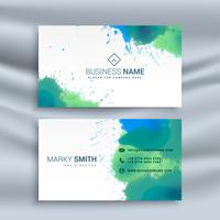 abstract business card with ink splash design