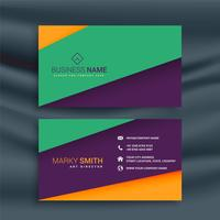 colorful clean business card design