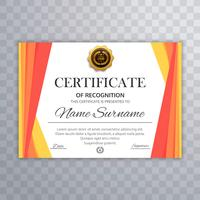 Certificate of achievement template vector design