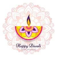 Abstract shiny beautiful diwali background vector