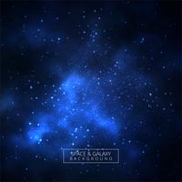 Beautiful blue galaxy background with universe
