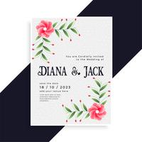 belle conception de cartes d'invitation de mariage