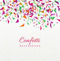 Abstract colorful elegant confetti background vector