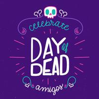 Cute And Colorful Day Of Dead Lettering