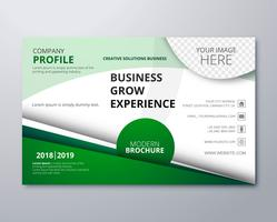 Abstract green business brochure template background