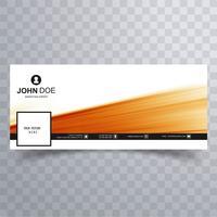 Diseño de plantilla de banner de línea de tiempo de Facebook moderno