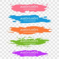 Abstract colorful watercolor stroke set design