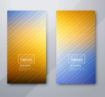 Abstract colorful business template set design
