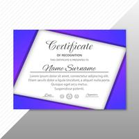 Modern stylish certificate template design vector
