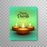 Modern colorful diwali bright design brochure