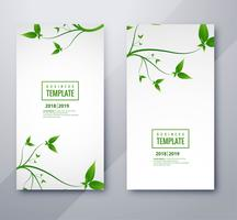 Beautiful nature banners set design vector
