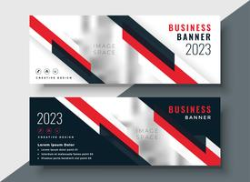 red theme corporate business banner design