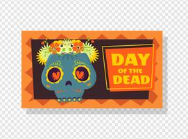 Dia do banner vector morto