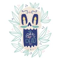 Cute Sugar Skull with Lettering