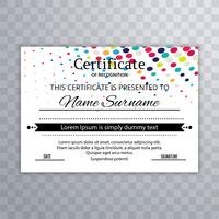 Abstract colorful certificate dotted template design