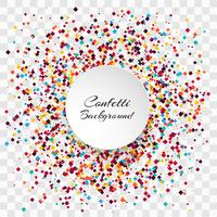 Celebration colorful confetti transparent background vector