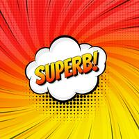 Superb comic text colorful pop art template background