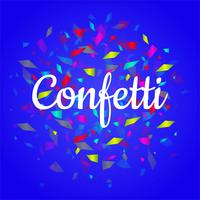 Beautiful colorful confetti bright background
