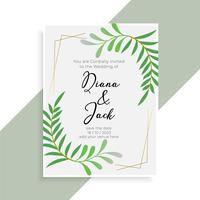 wedding invitation card elegant design