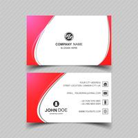 Creative business card template with wave design