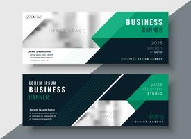 green abstract business banner design template