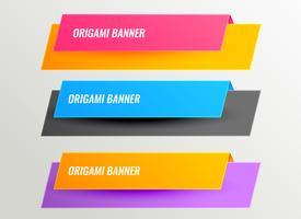 ljusa origami banners design set