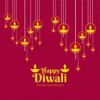 Conception élégante et brillante du festival de diwali