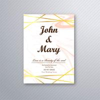 Wedding card template luxury design vector