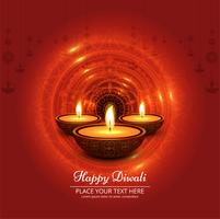 Diwali festival design with three candles