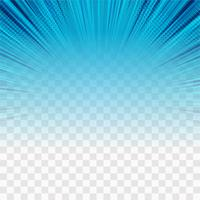 Vector de fondo transparente de rayos azul moderno