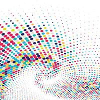 Abstract colorful swirl halftone background