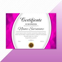 Beautiful stylish certificate template  vector design