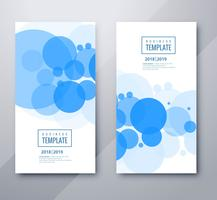 Scénographie de beaux cercles business template