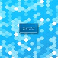 Abstract geometric hexagon pattern background vector