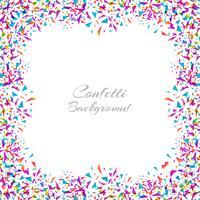 Marco colorido abstracto del confeti aislado en el fondo blanco