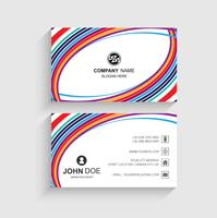 Beautiful business card template with wave design
