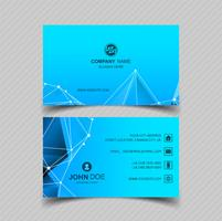 Modern blue business card design vector