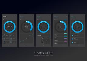 Karten-UI-Kit Mobiles Element-Set