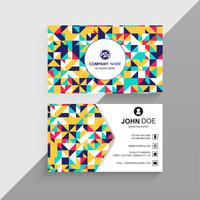 Professional colorful business card geometric background