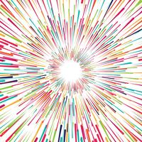 Beaux rayons colorés vector background