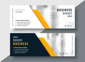 elegant yellow professional business banner template