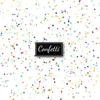 Elegant colorful confetti background vector