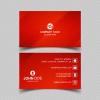 Beautiful red business card template set design