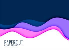 sfondo elegante del concetto di Papercut lairato