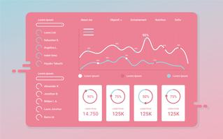 Charts UI Kit Vector