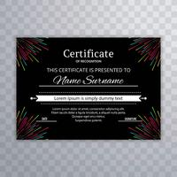 Elegant colorful certificate template vector