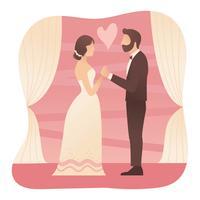 Vecteur de proposition de fiançailles