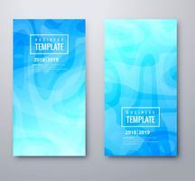 Mooie blauwe banners instellen sjabloonontwerp