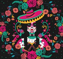 Day Of The Dead Back Background Vector