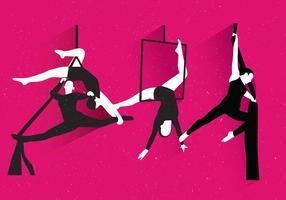 trapeze kunstenaar vector